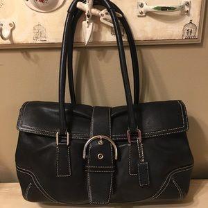 Coach Hampton Soho black leather bag 9550